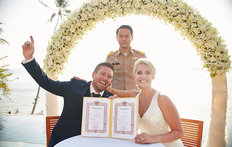 Legal Wedding Certificate at Conrad Koh Samui
