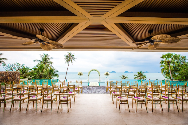 Over-water Wedding at Conrad Koh Samui - All set up