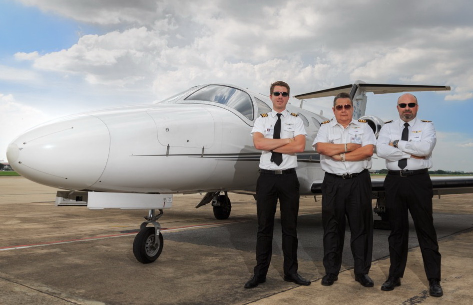VIP Jets pilots at Don Muang Intl. Airport